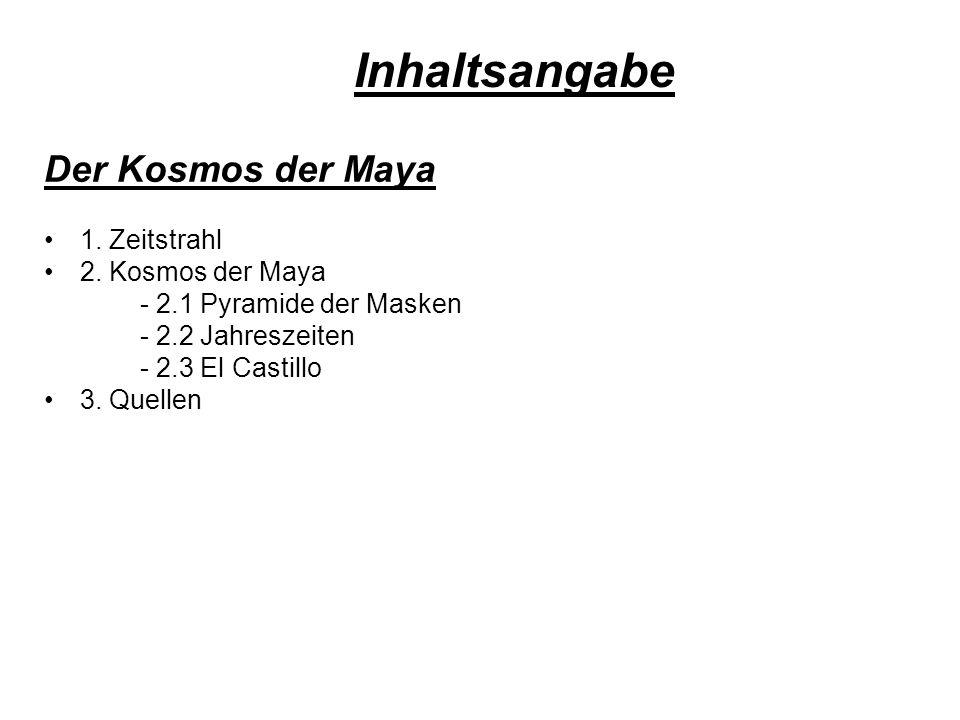 Inhaltsangabe Der Kosmos der Maya 1. Zeitstrahl 2. Kosmos der Maya