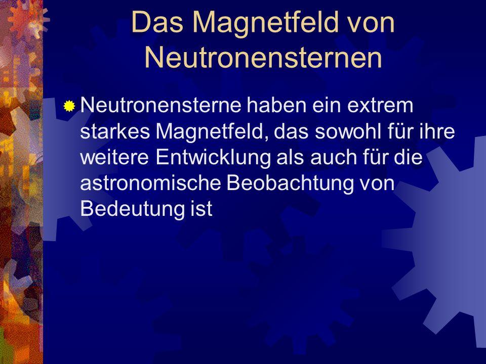 Das Magnetfeld von Neutronensternen