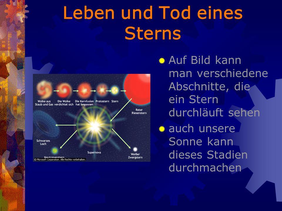Leben und Tod eines Sterns