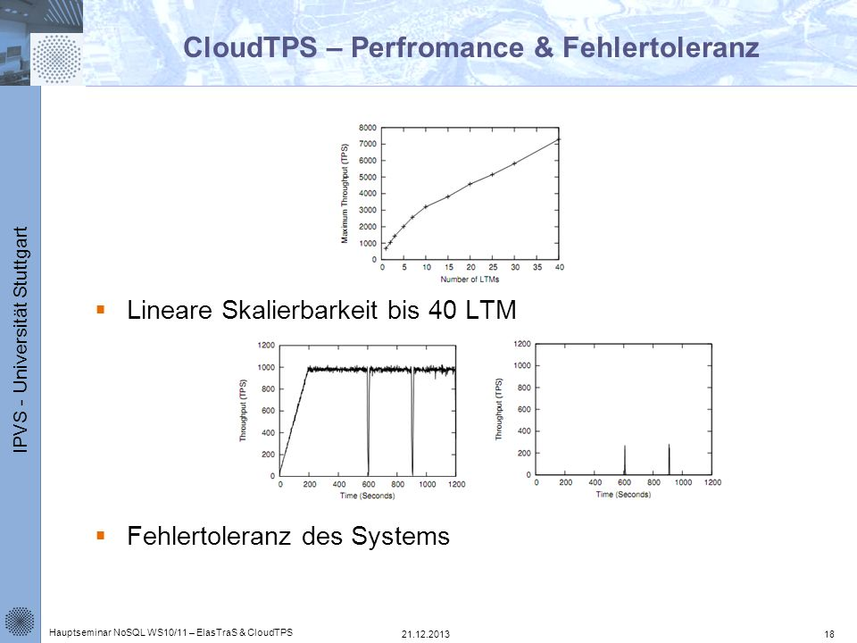 CloudTPS – Perfromance & Fehlertoleranz