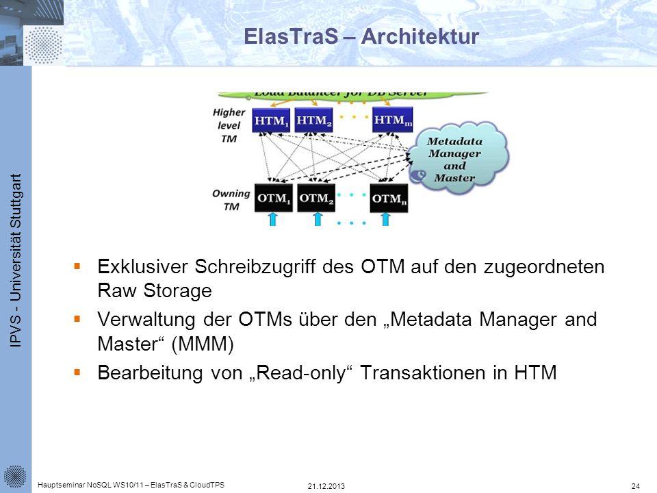 ElasTraS – Architektur