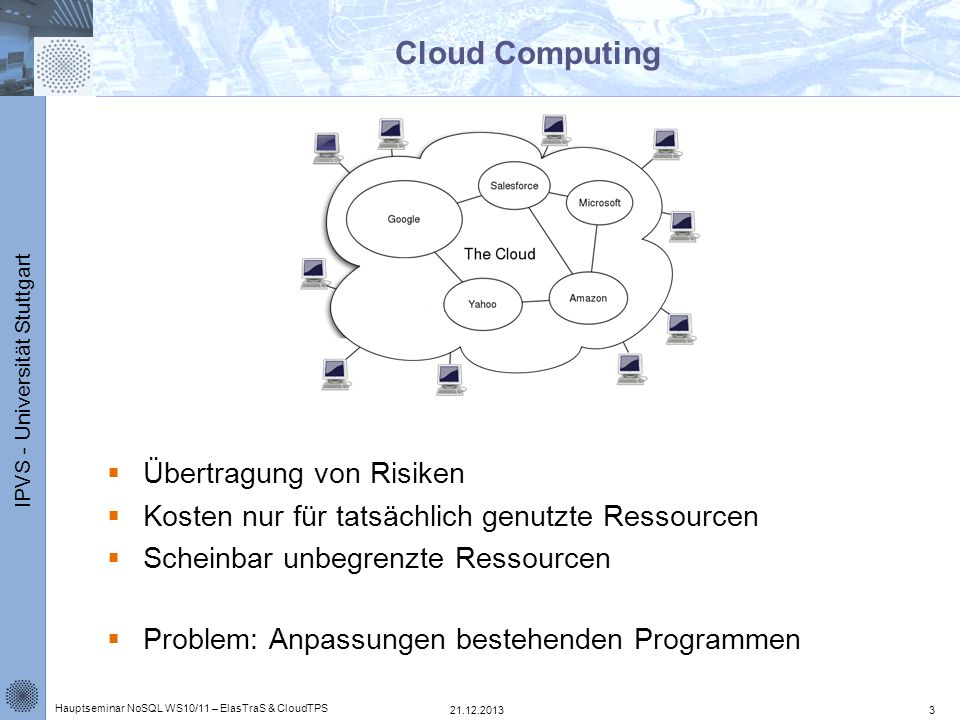 Cloud Computing Übertragung von Risiken