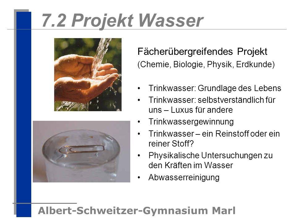 7.2 Projekt Wasser Fächerübergreifendes Projekt