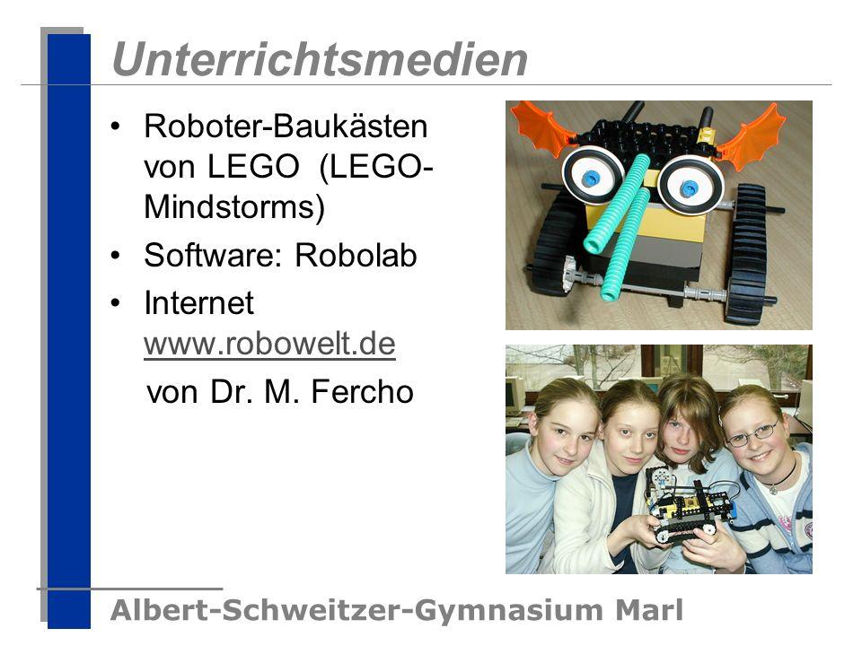 Unterrichtsmedien Roboter-Baukästen von LEGO (LEGO-Mindstorms)