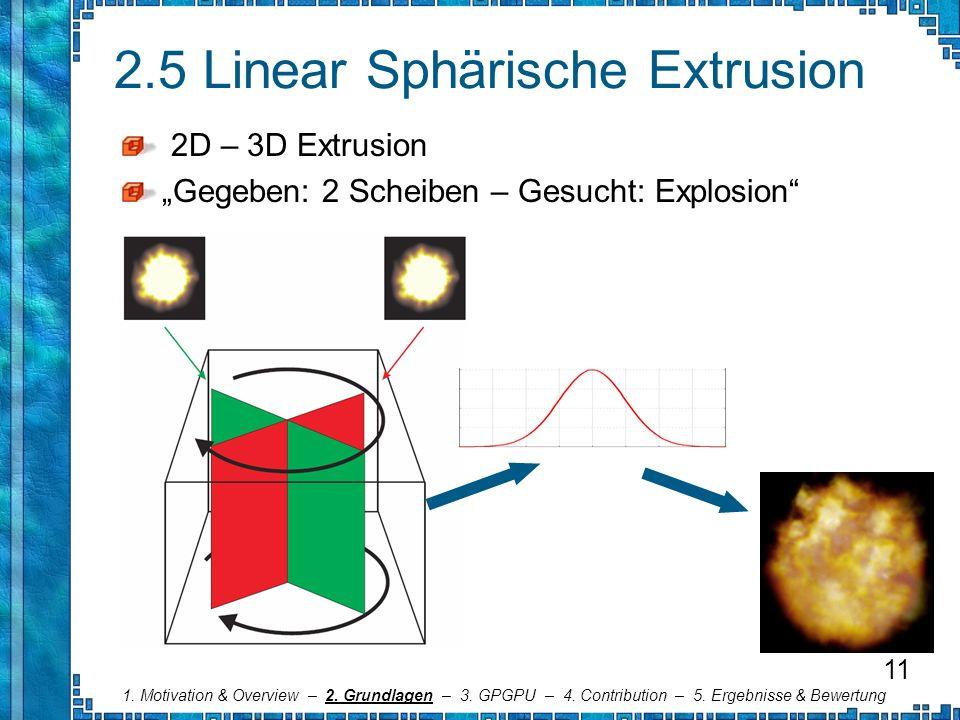 2.5 Linear Sphärische Extrusion