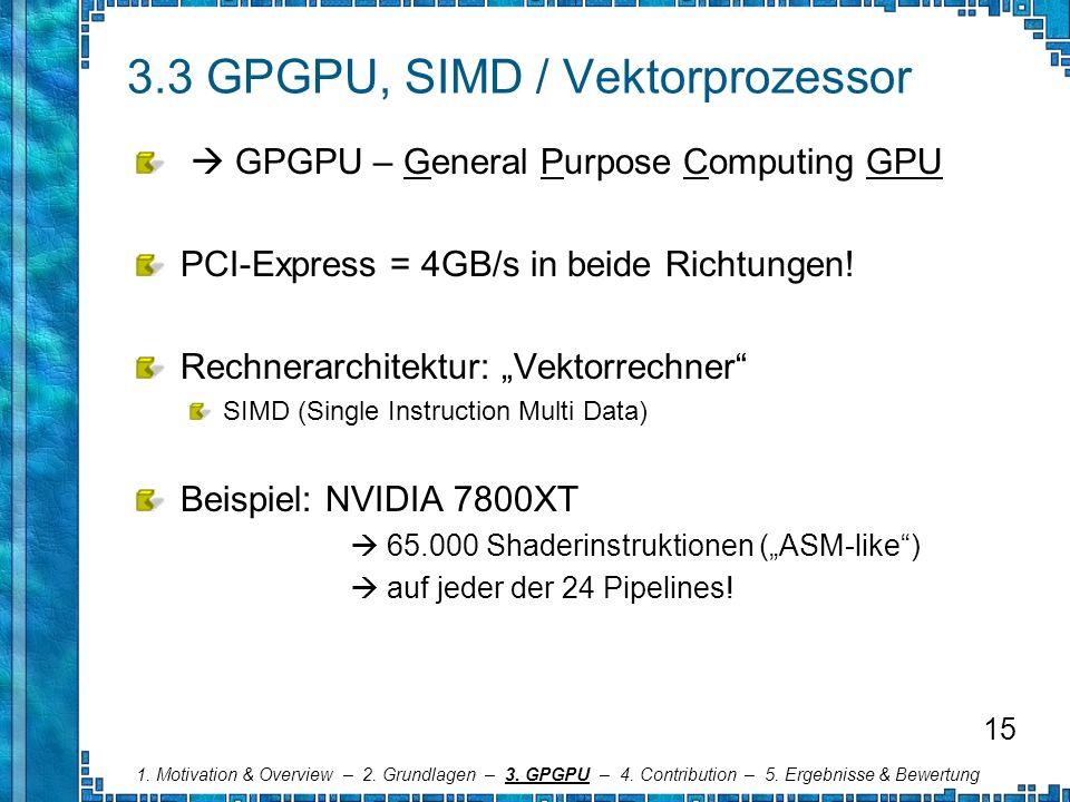 3.3 GPGPU, SIMD / Vektorprozessor