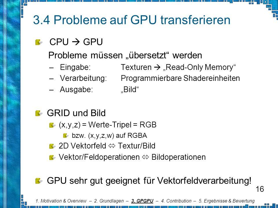 3.4 Probleme auf GPU transferieren