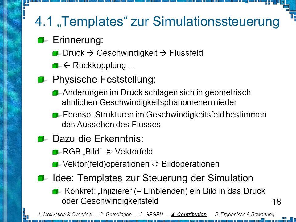 """4.1 """"Templates zur Simulationssteuerung"""