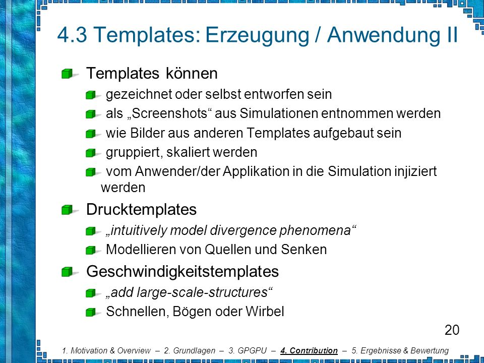 4.3 Templates: Erzeugung / Anwendung II