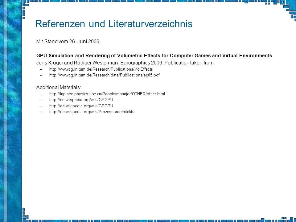 Referenzen und Literaturverzeichnis