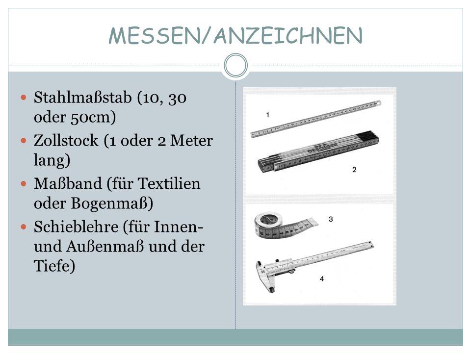 MESSEN/ANZEICHNEN Stahlmaßstab (10, 30 oder 50cm)