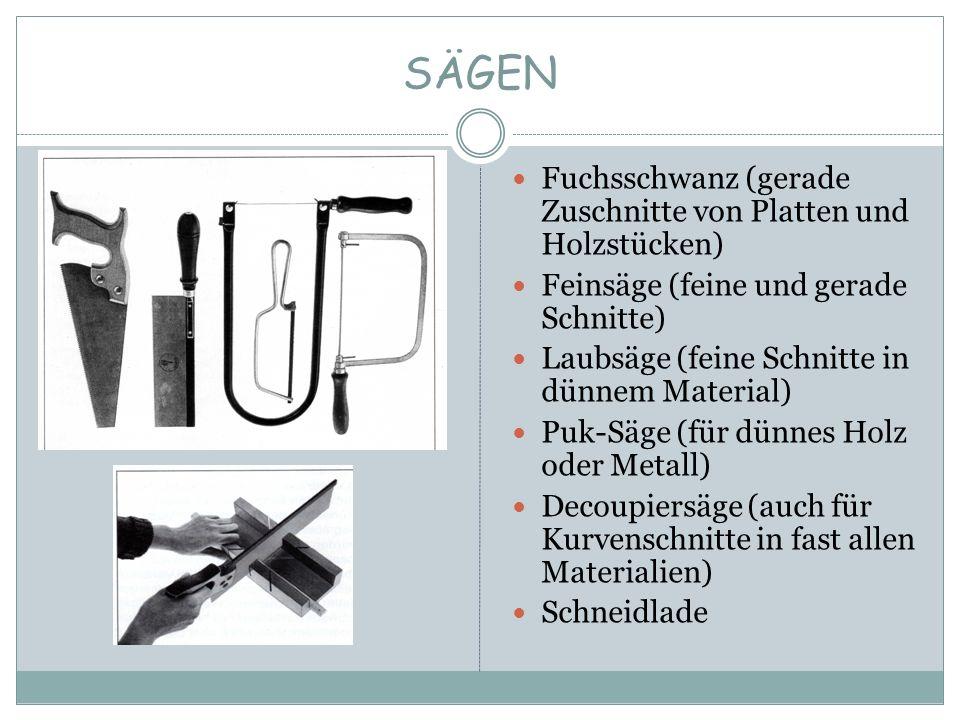 SÄGEN Fuchsschwanz (gerade Zuschnitte von Platten und Holzstücken)