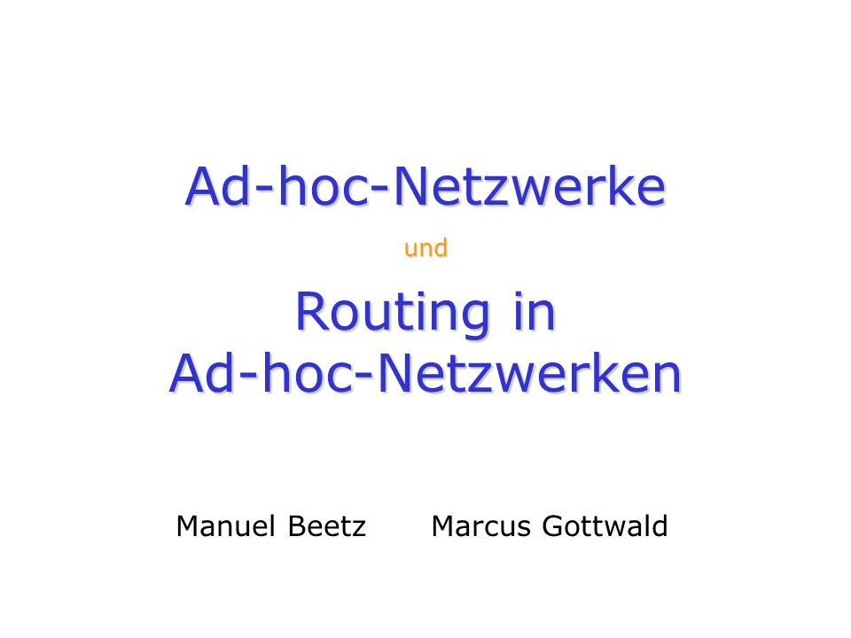Ad-hoc-Netzwerke und Routing in Ad-hoc-Netzwerken