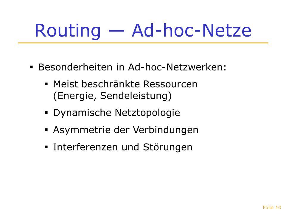Routing — Ad-hoc-Netze