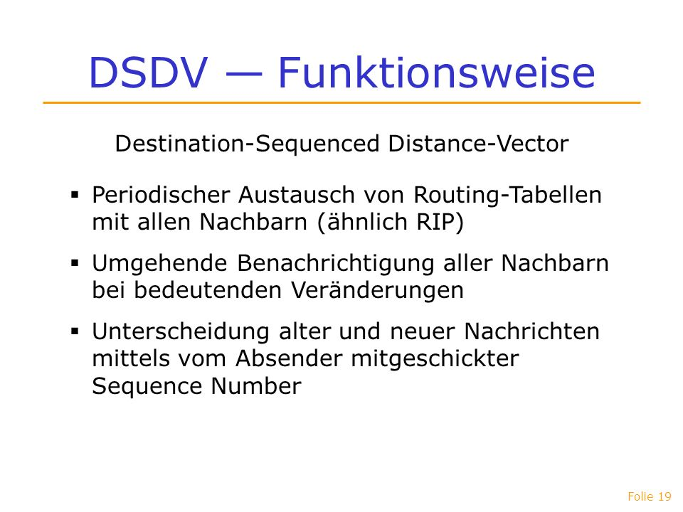 Destination-Sequenced Distance-Vector