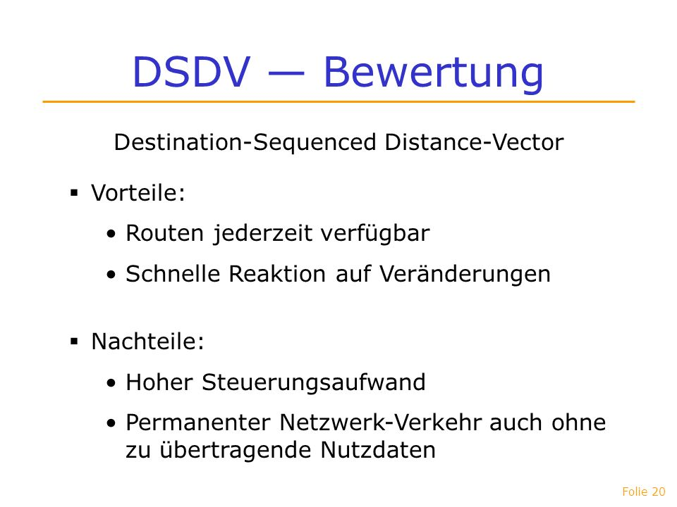 Destination-Sequenced Distance-Vector