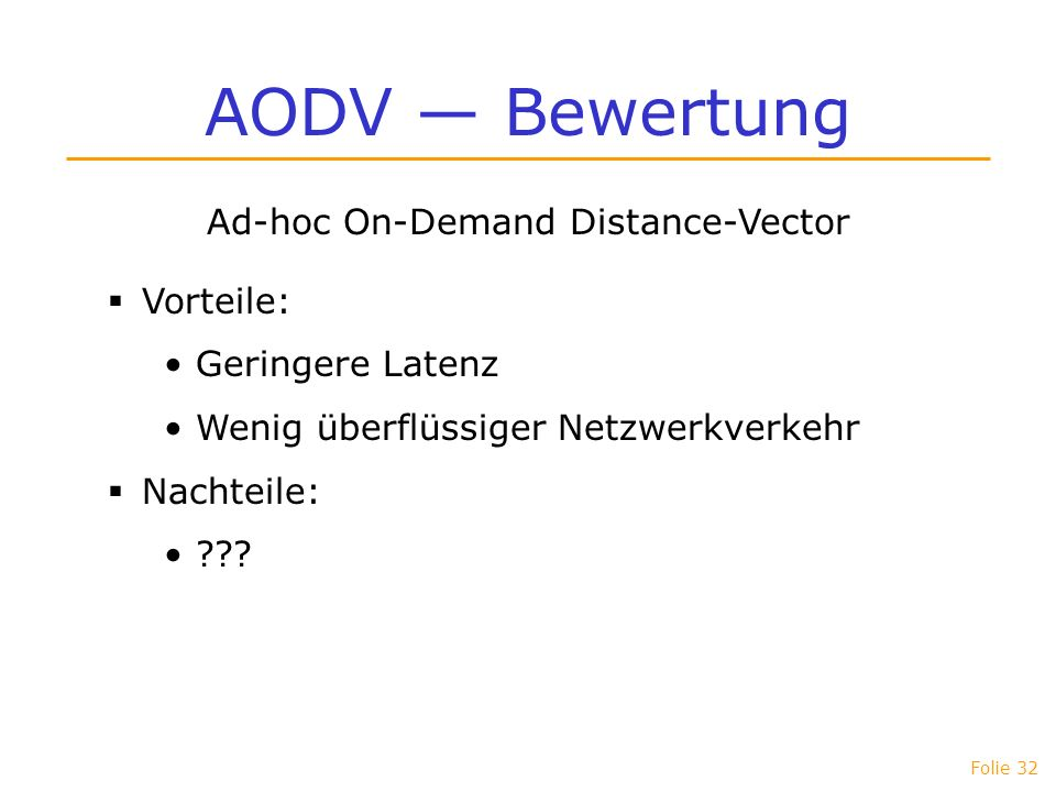 Ad-hoc On-Demand Distance-Vector