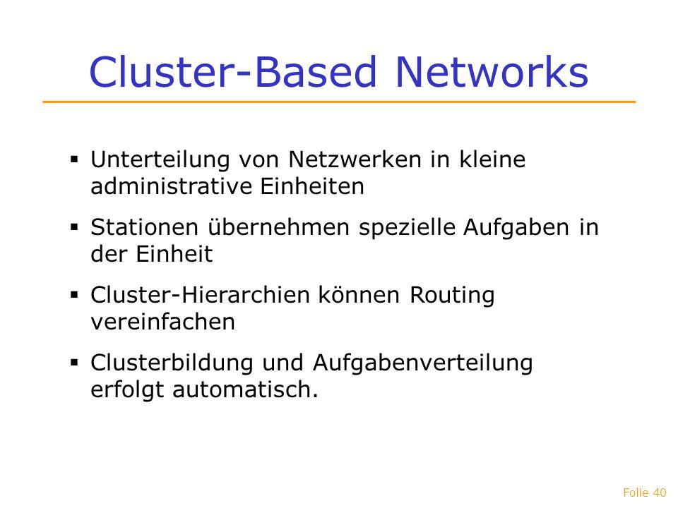 Cluster-Based Networks