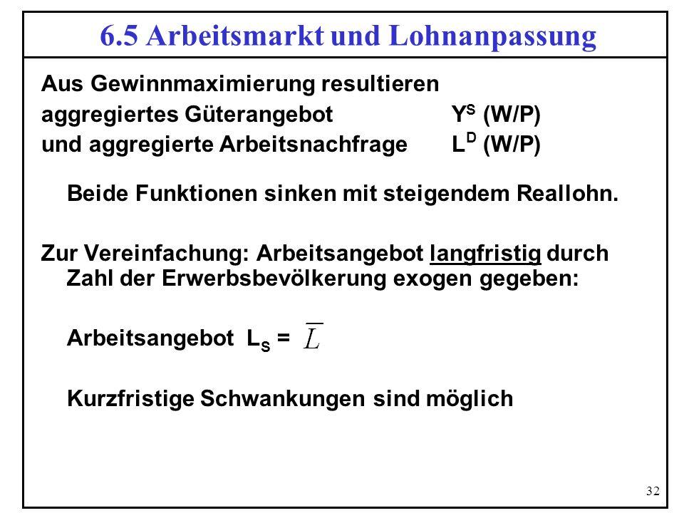 6.5 Arbeitsmarkt und Lohnanpassung