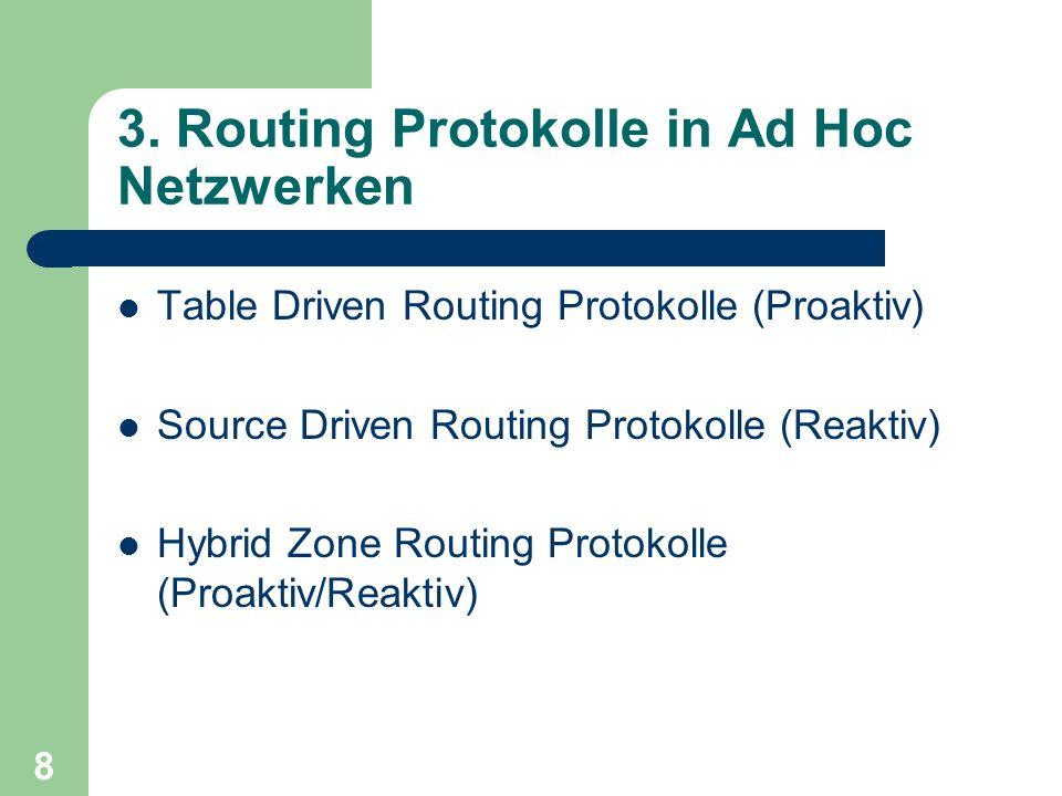 3. Routing Protokolle in Ad Hoc Netzwerken