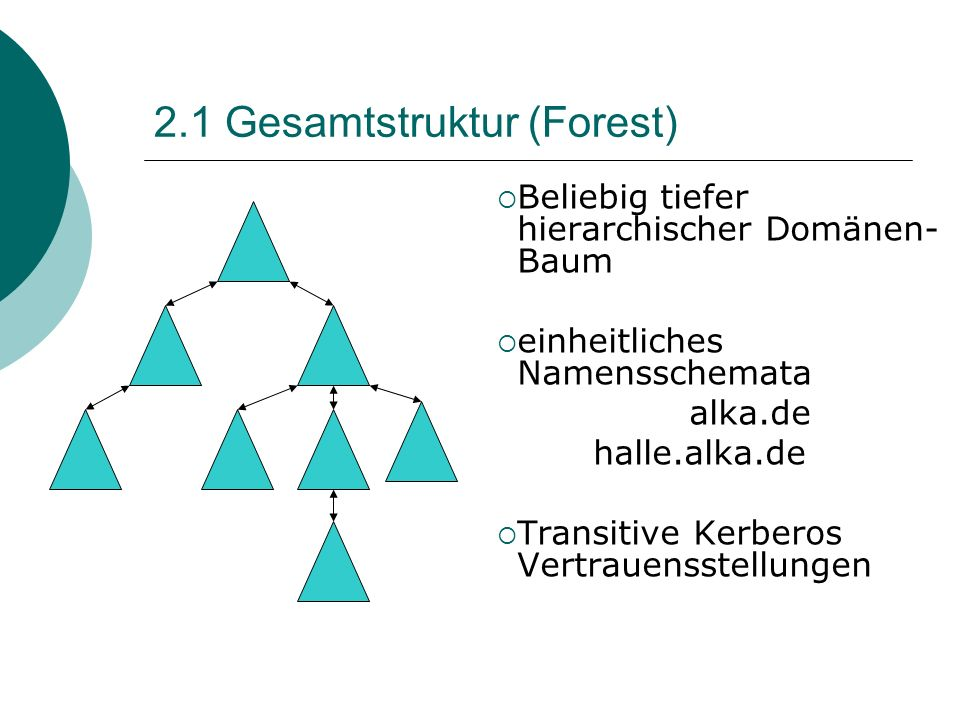 2.1 Gesamtstruktur (Forest)