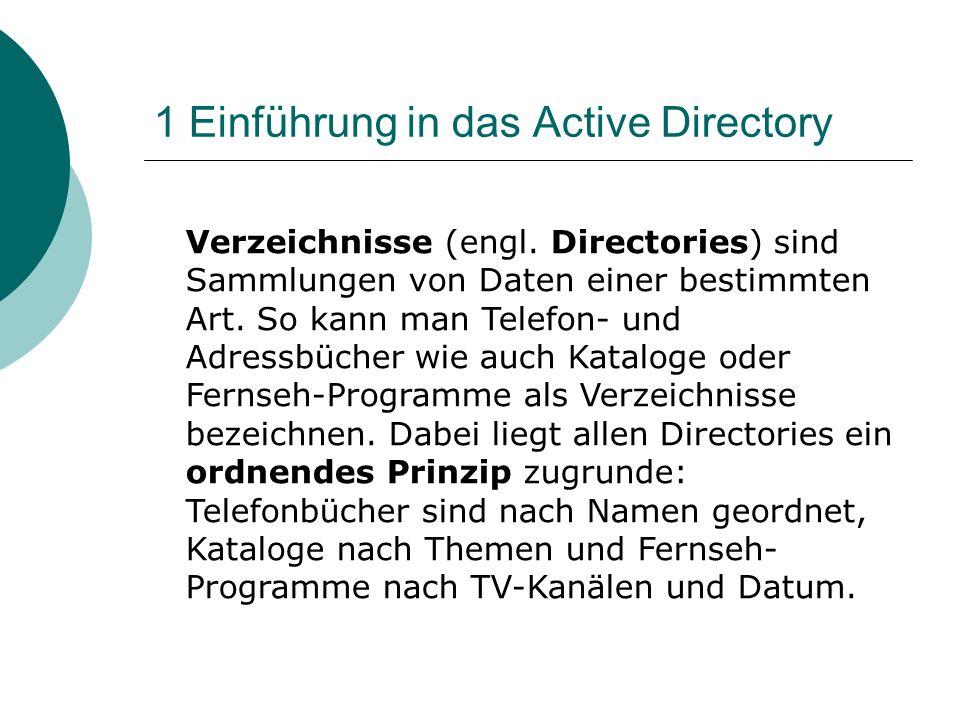 1 Einführung in das Active Directory
