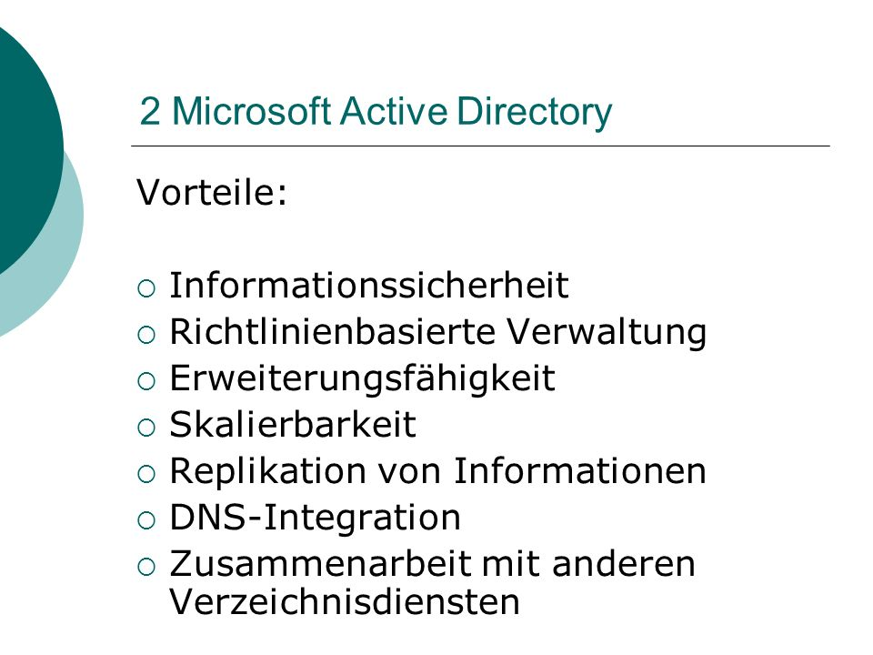 2 Microsoft Active Directory