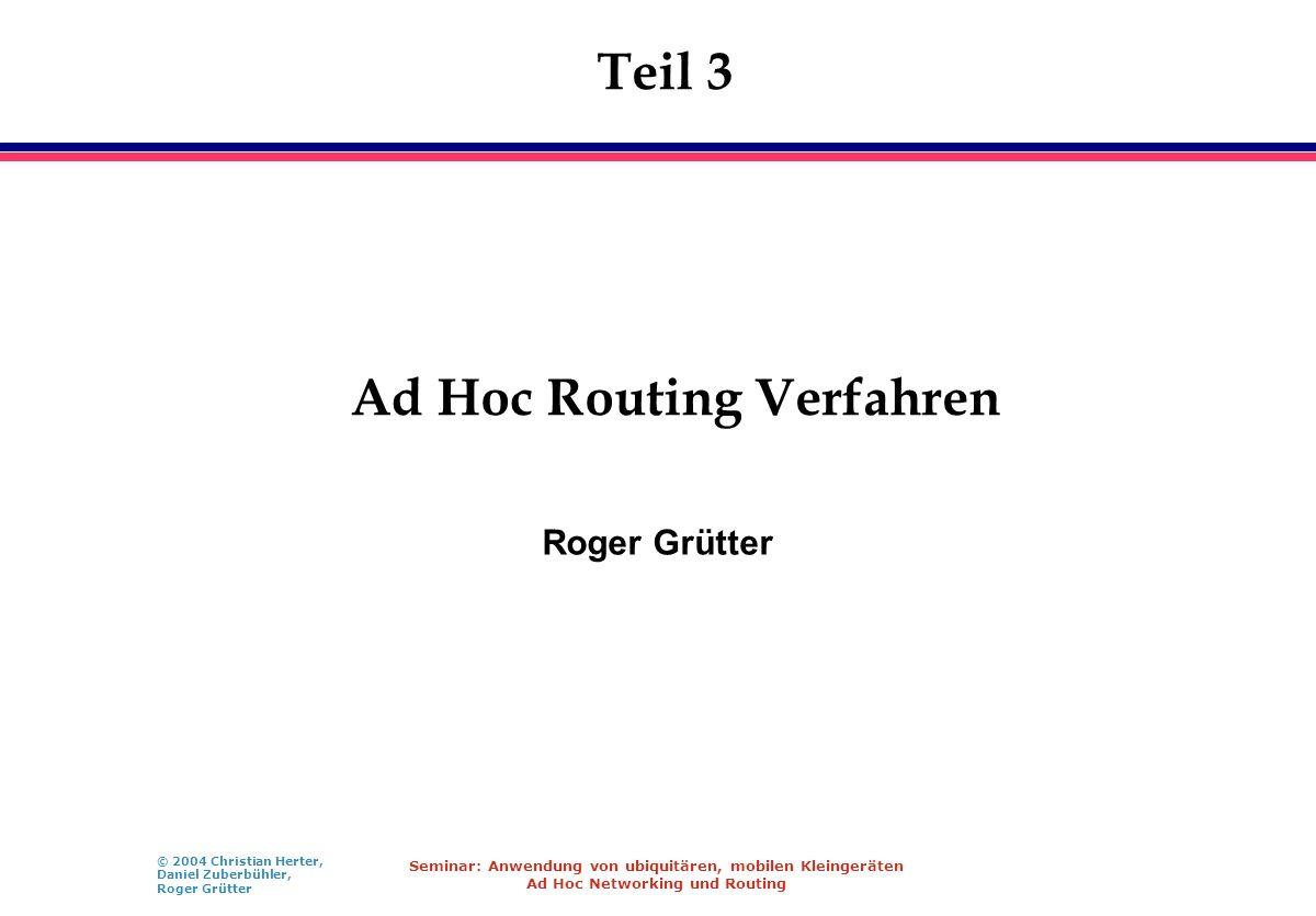 Ad Hoc Routing Verfahren