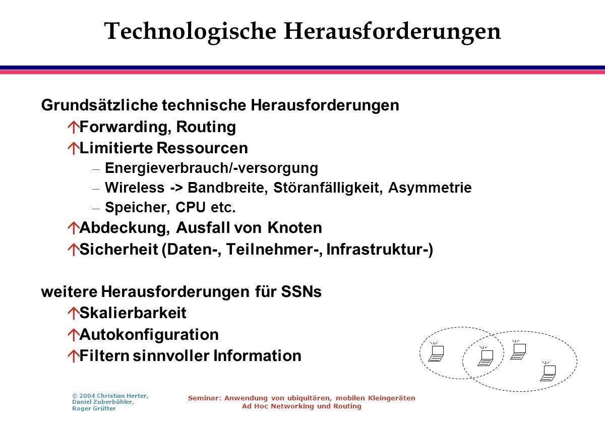 Technologische Herausforderungen