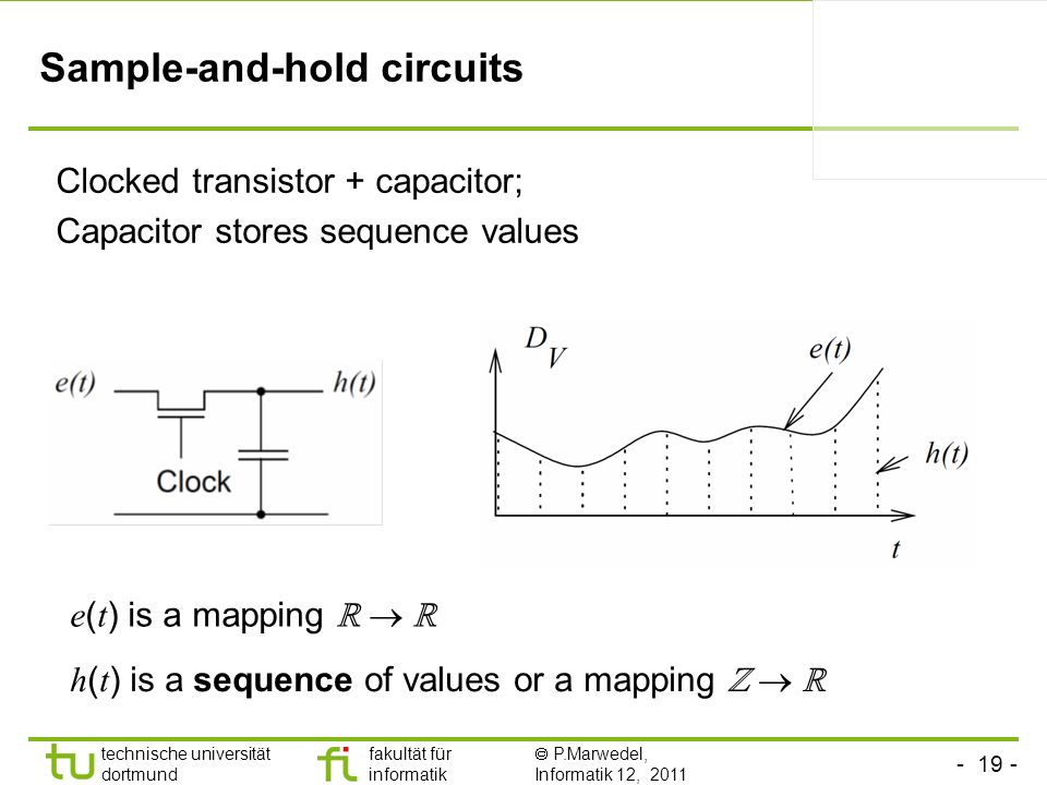 Sample-and-hold circuits