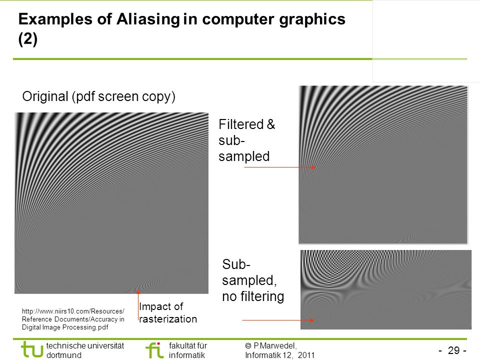 Examples of Aliasing in computer graphics (2)