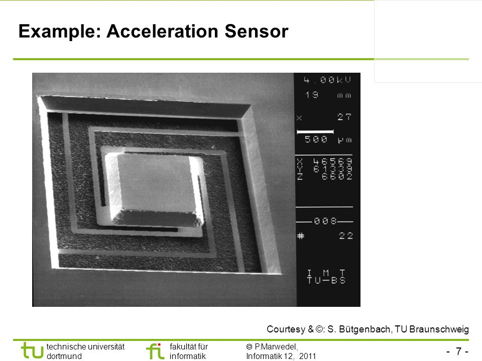 Example: Acceleration Sensor