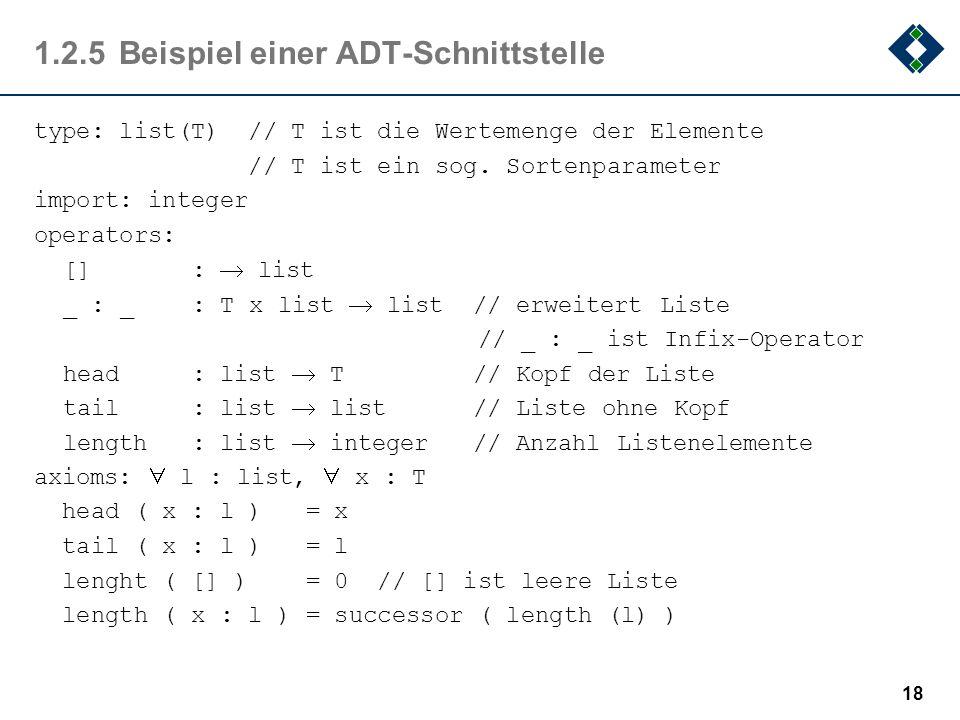 1.2.5 Beispiel einer ADT-Schnittstelle