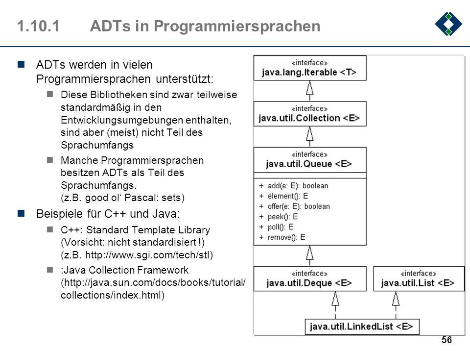1.10.1 ADTs in Programmiersprachen