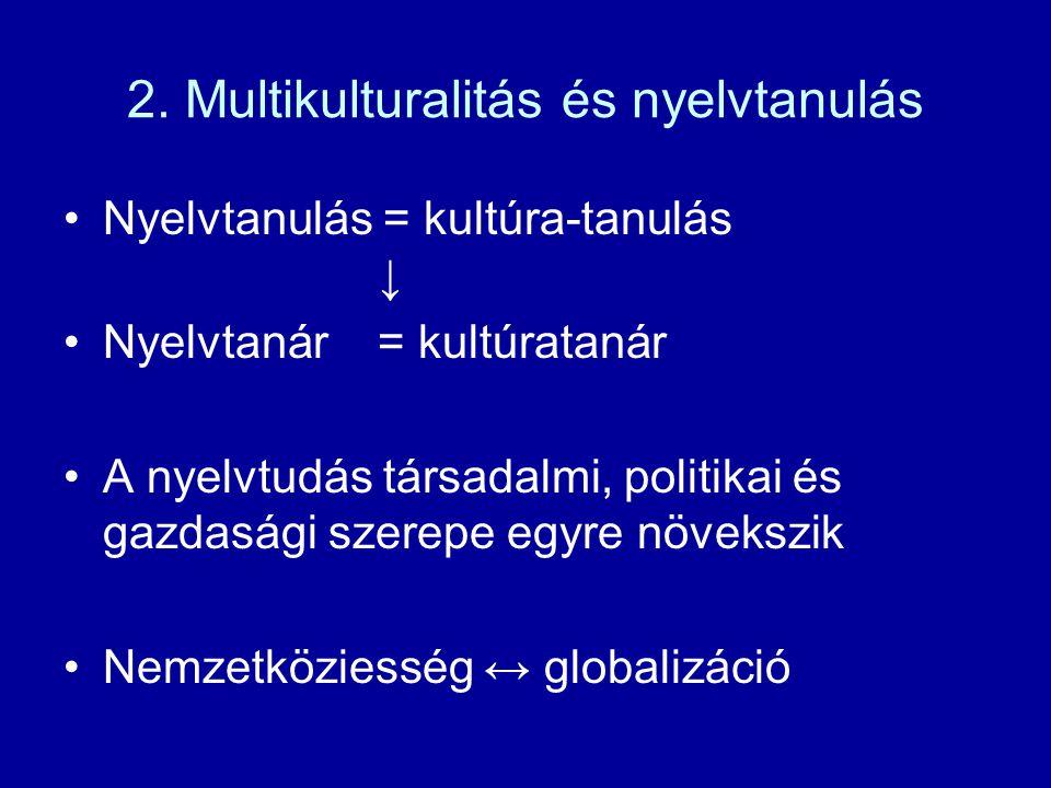 2. Multikulturalitás és nyelvtanulás