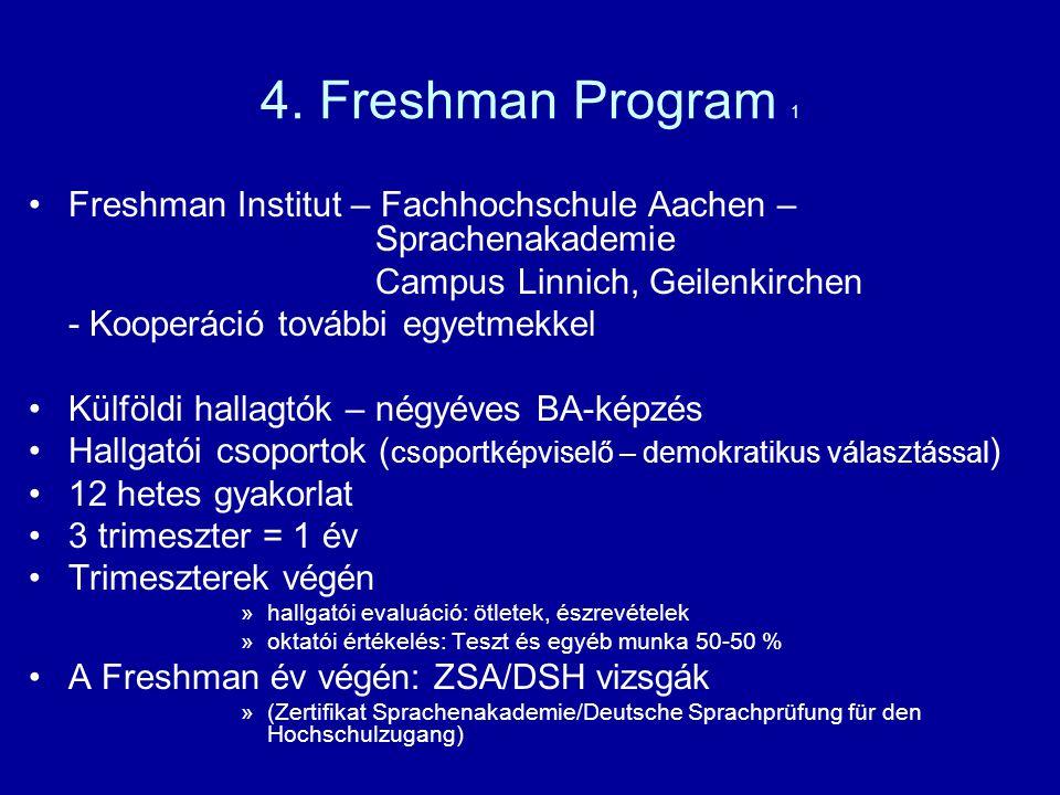 4. Freshman Program 1 Freshman Institut – Fachhochschule Aachen – Sprachenakademie.