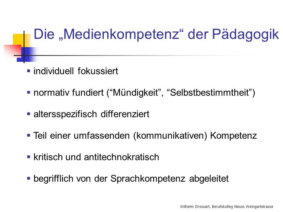 """Die """"Medienkompetenz der Pädagogik"""