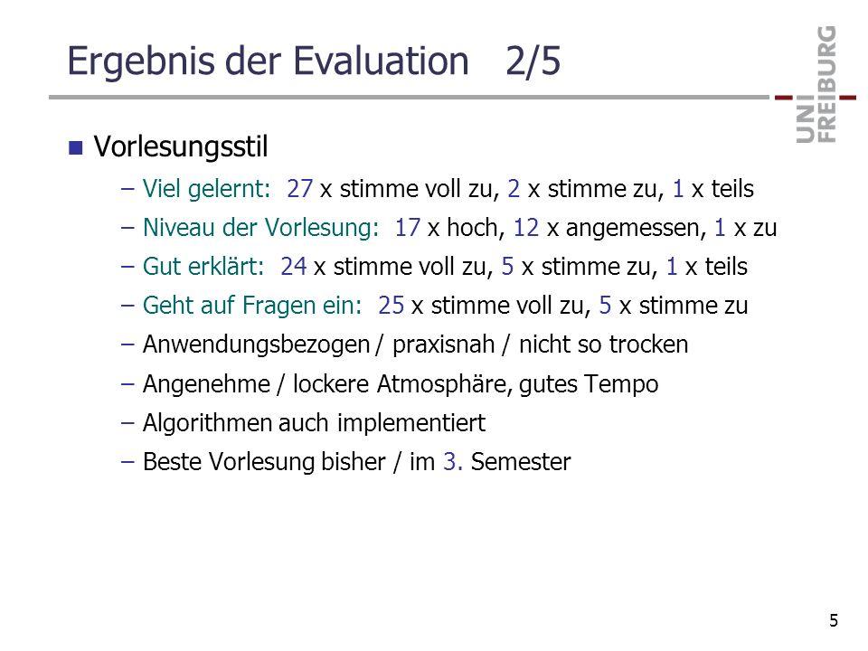 Ergebnis der Evaluation 2/5