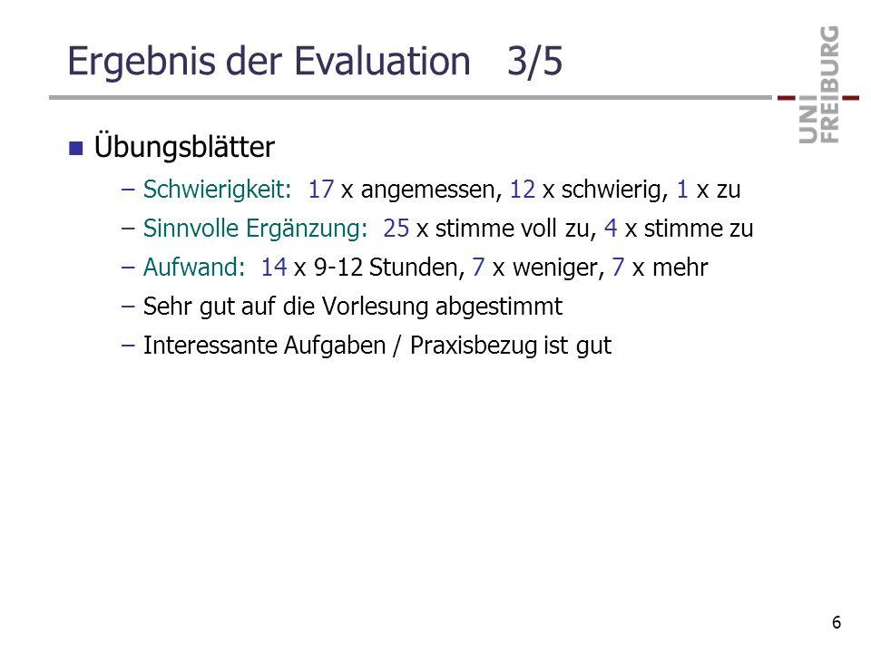 Ergebnis der Evaluation 3/5