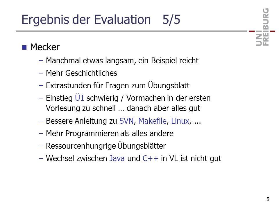 Ergebnis der Evaluation 5/5