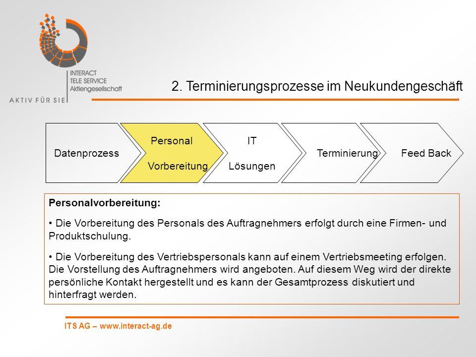 2. Terminierungsprozesse im Neukundengeschäft