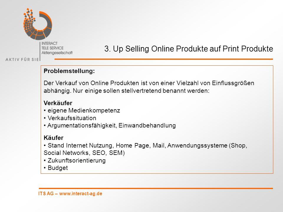 3. Up Selling Online Produkte auf Print Produkte