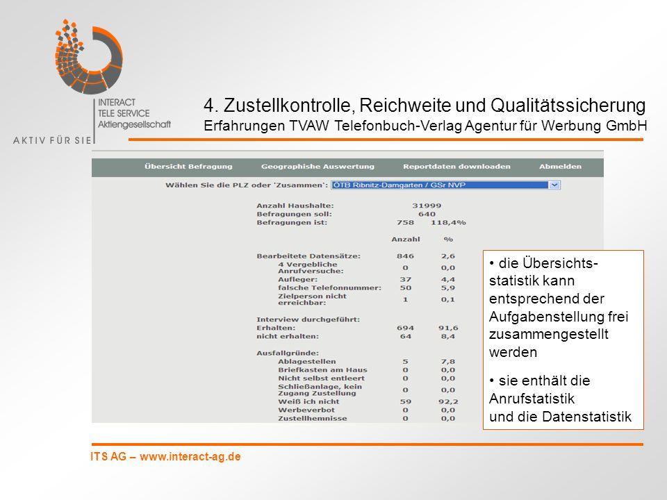 4. Zustellkontrolle, Reichweite und Qualitätssicherung