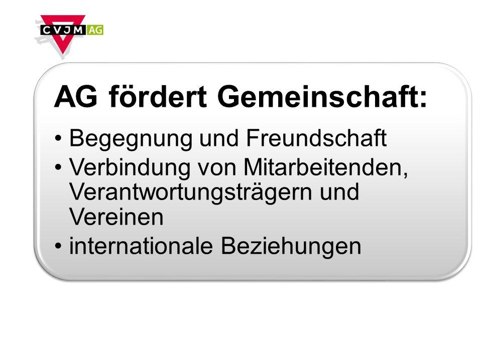 AG fördert Gemeinschaft: