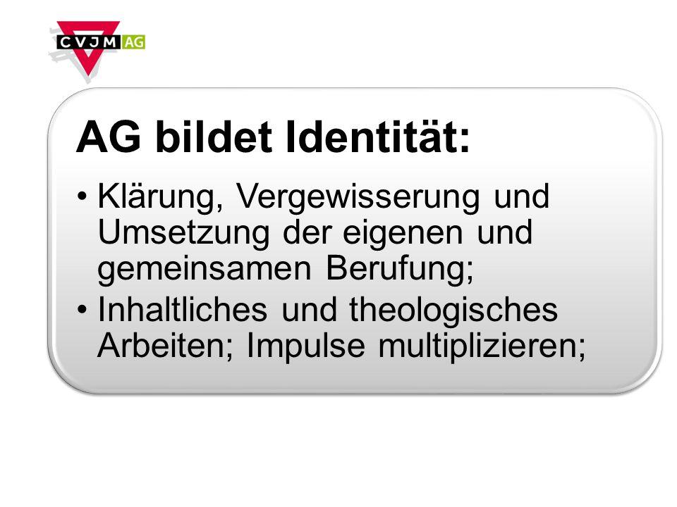 AG bildet Identität:Klärung, Vergewisserung und Umsetzung der eigenen und gemeinsamen Berufung;