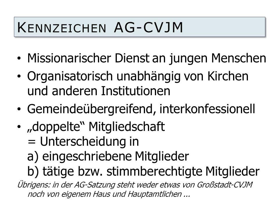 Kennzeichen AG-CVJM Missionarischer Dienst an jungen Menschen