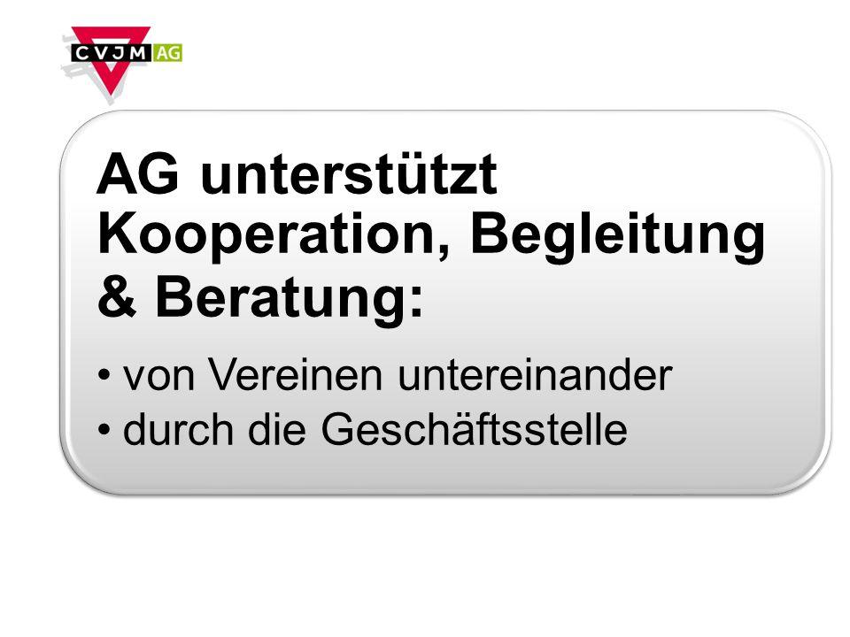 AG unterstützt Kooperation, Begleitung & Beratung: