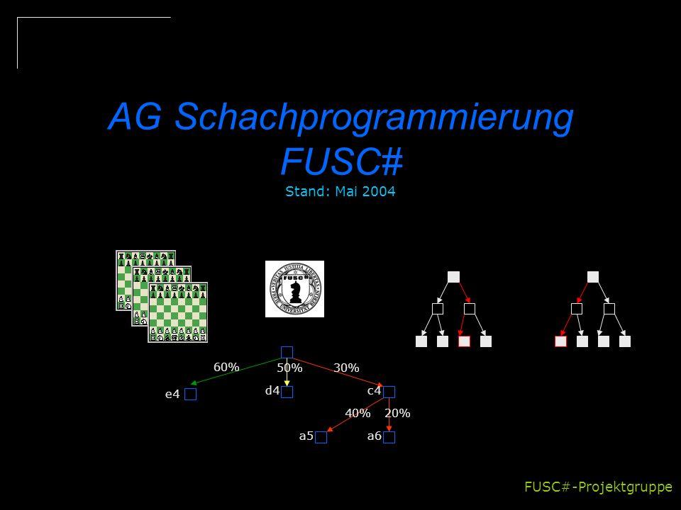 AG Schachprogrammierung FUSC# Stand: Mai 2004
