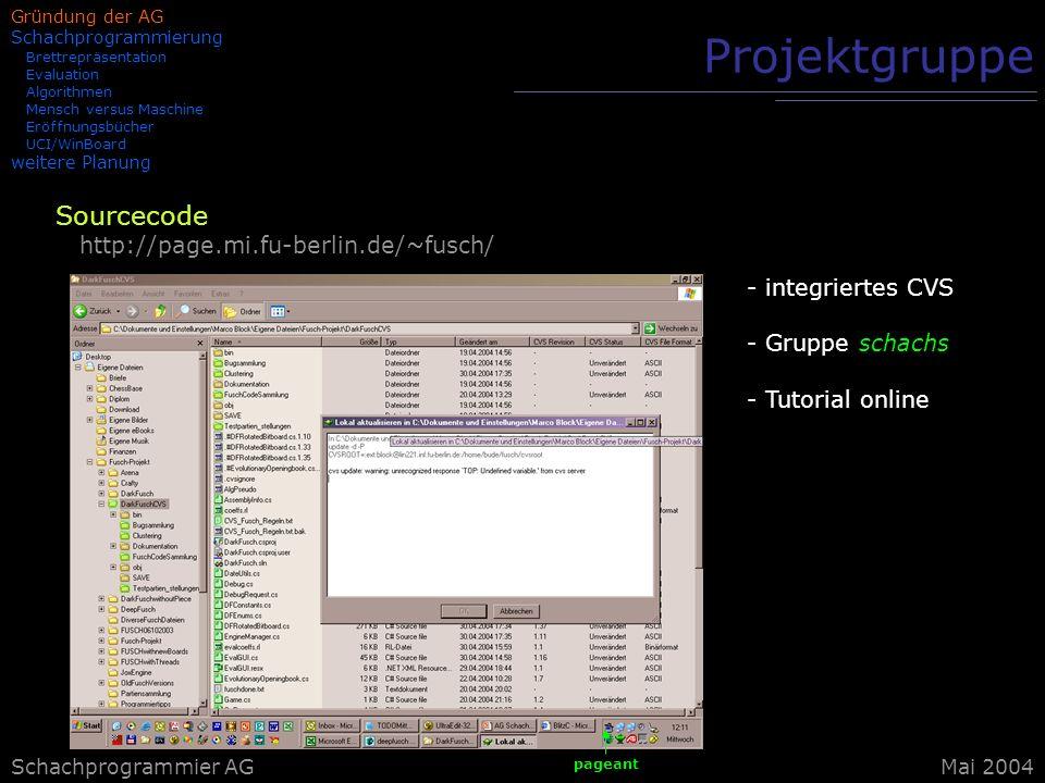 Projektgruppe Sourcecode http://page.mi.fu-berlin.de/~fusch/