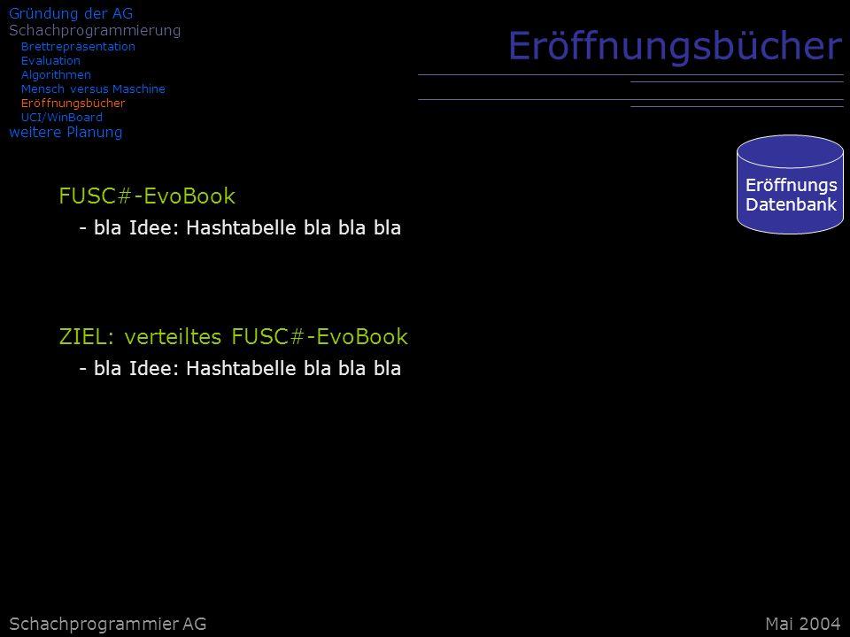 Eröffnungsbücher FUSC#-EvoBook ZIEL: verteiltes FUSC#-EvoBook
